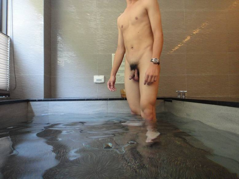 Brunette Milf Naked In Men Public Restroom