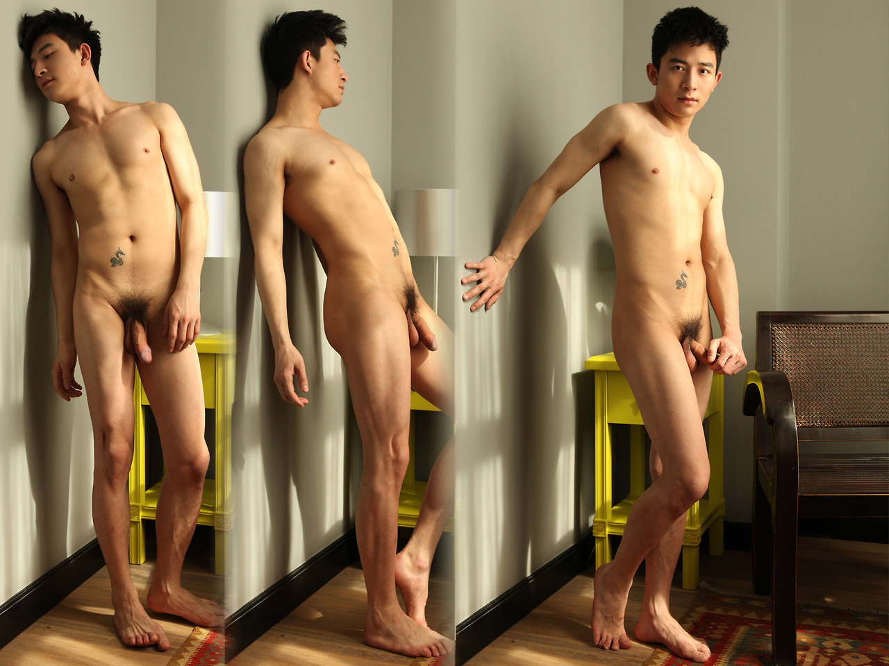 asian man nude model