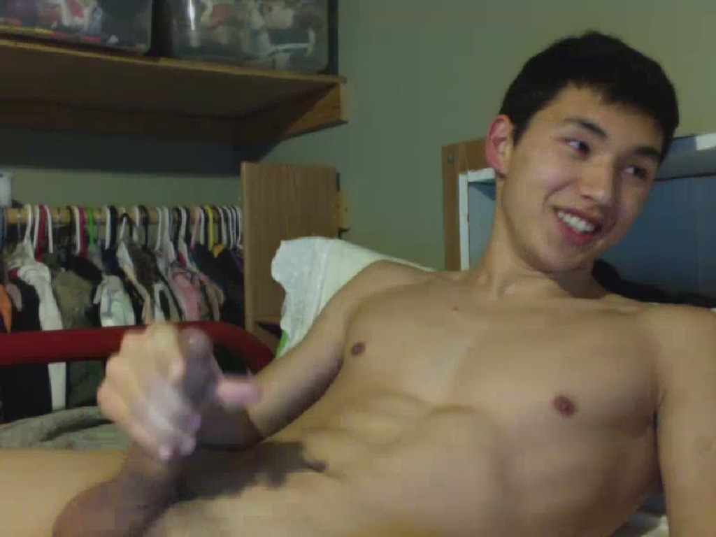 Korean Lad Jerking Off