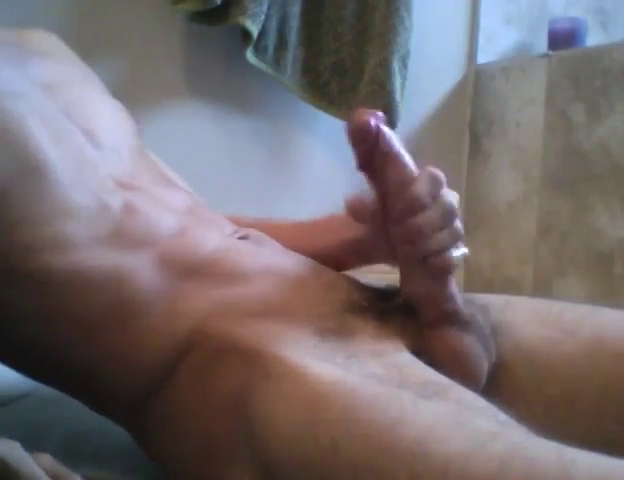 Huge cock jacking off