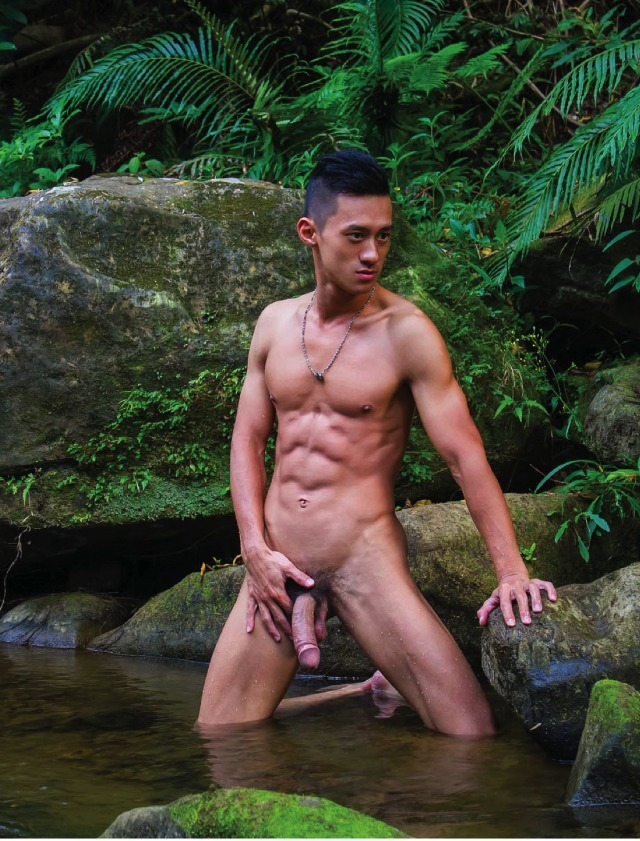 handsome guy naked in onsen