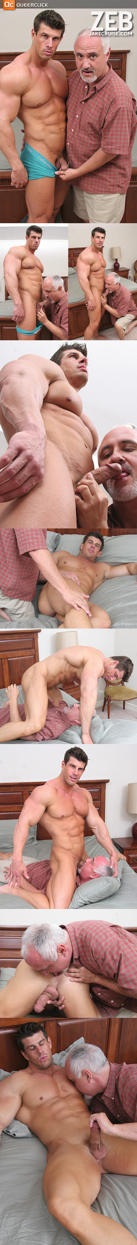 Like a Roman God of Strength, Zeb Atlas gets his dick sucked.