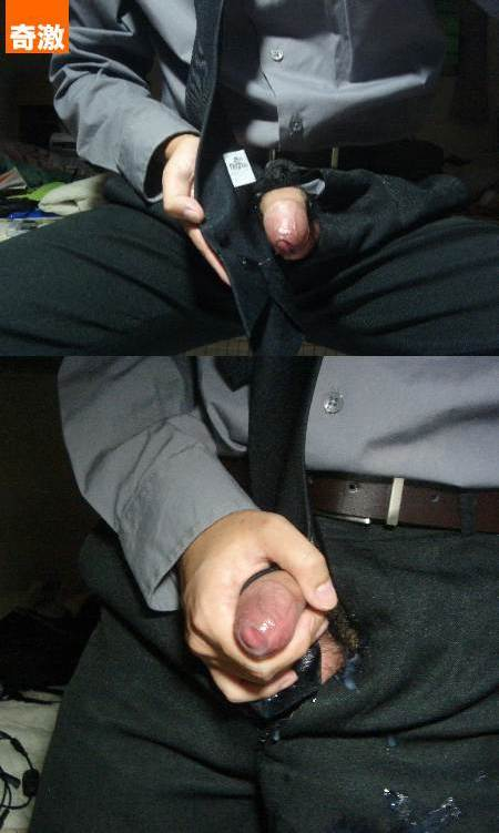 How do you like a man in suit jerking off? Look at the cum shots!