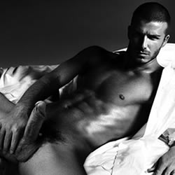 David Beckham Nude/Erection. You think he's bigger or smaller than that?