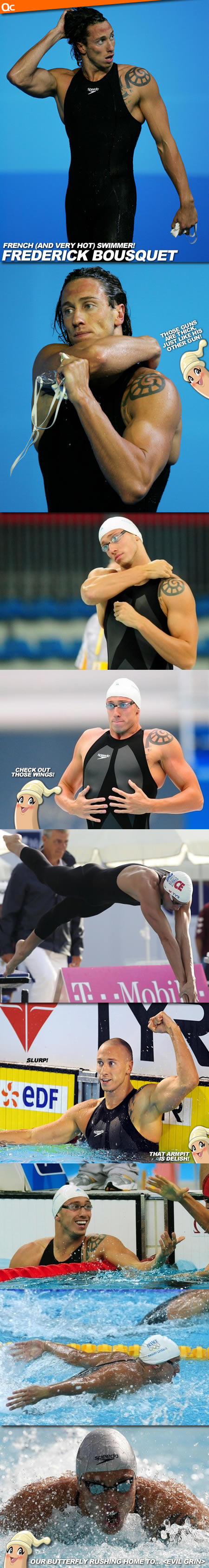 Olympic Silver Medallist Frederick Bousquet is too hot!! Does the water in the pool boil?