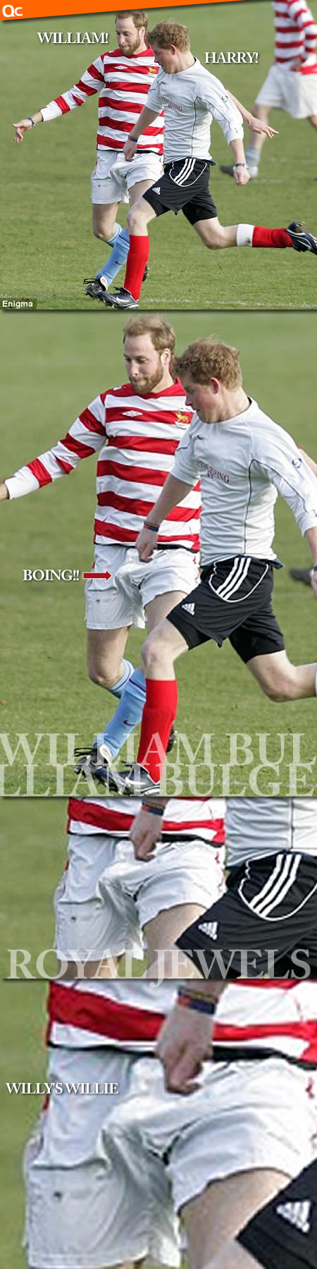 Prince William Soccer Bulge Visible Penis Line VPL
