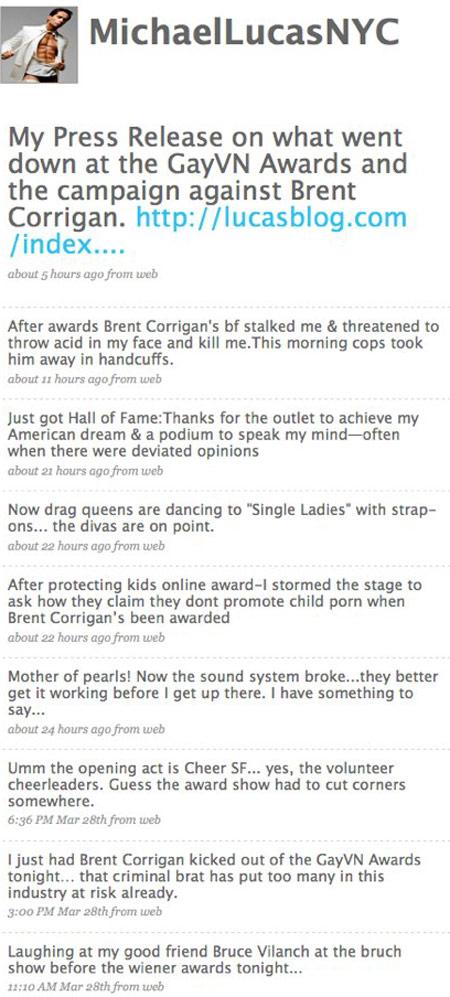 BREAKING: Michael Lucas Twitters GayVN Run-In With Brent Corrigan's Boyfriend