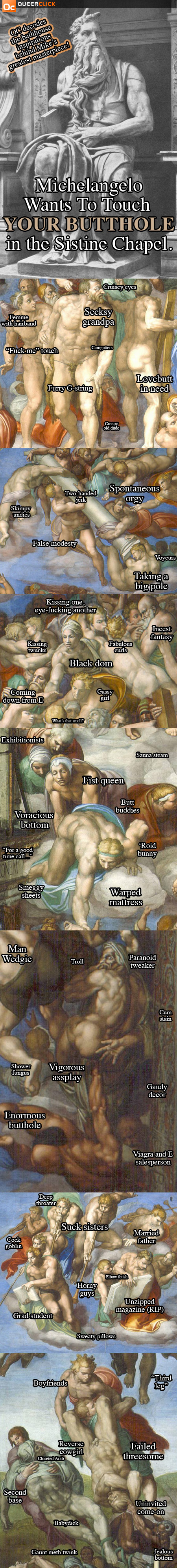 Michelangelo Wants To Touch Your Butthole In The Sistine Chapel