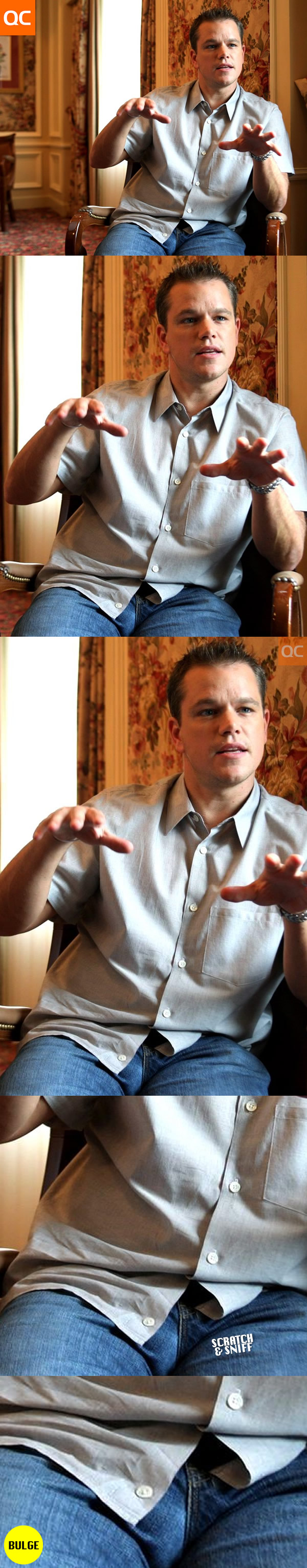 Matt Damon Denim Bulge