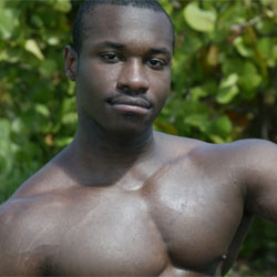 Marc Williams is a young muscular gay black male porn star in his twenties ...
