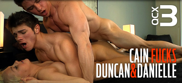 Amateur College Sex: Cain Fucks Duncan and Danielle