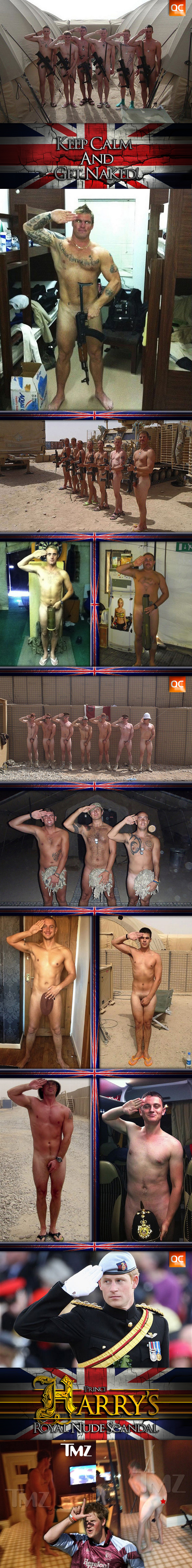 Soldiers Get Naked In Support Of Prince Harry