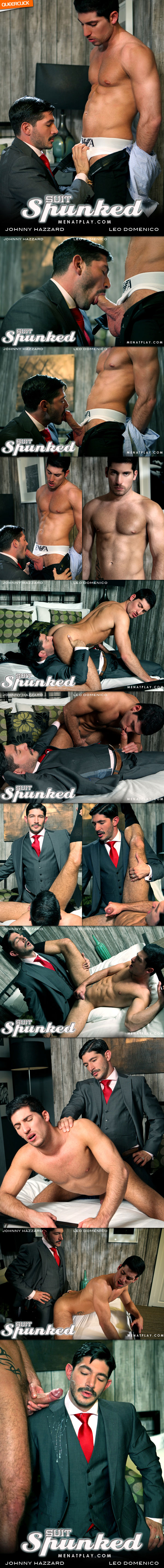Men At Play: Suit Spunked - Johnny Hazzard and Leo Domenico