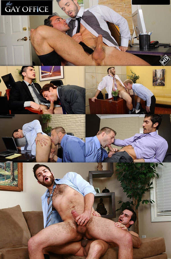 Gay men fucking in the office