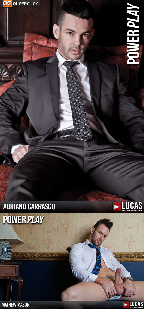 Adriano & Mathew in Power Play at Lucas Entertainment