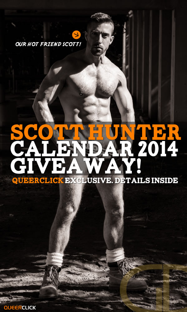 QueerClick Scott Hunter Wall Calendar 2014 Giveaway