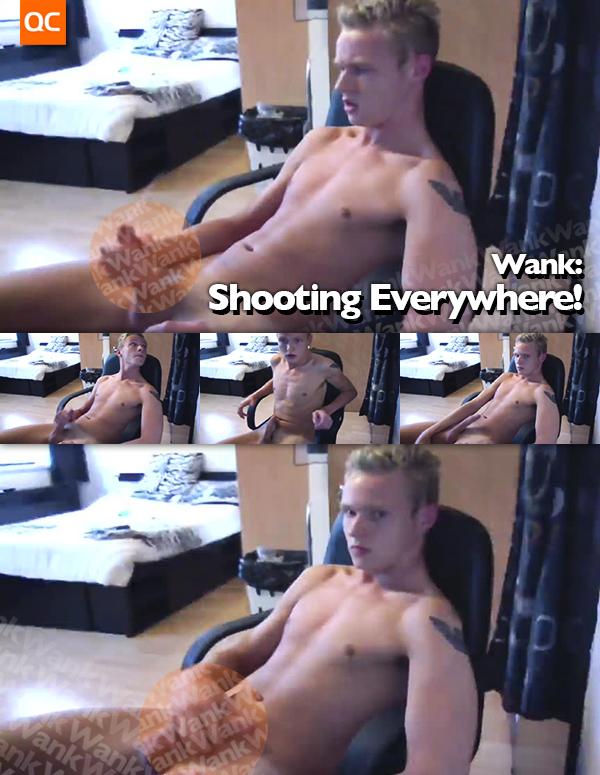 Wank: Shooting Everywhere!