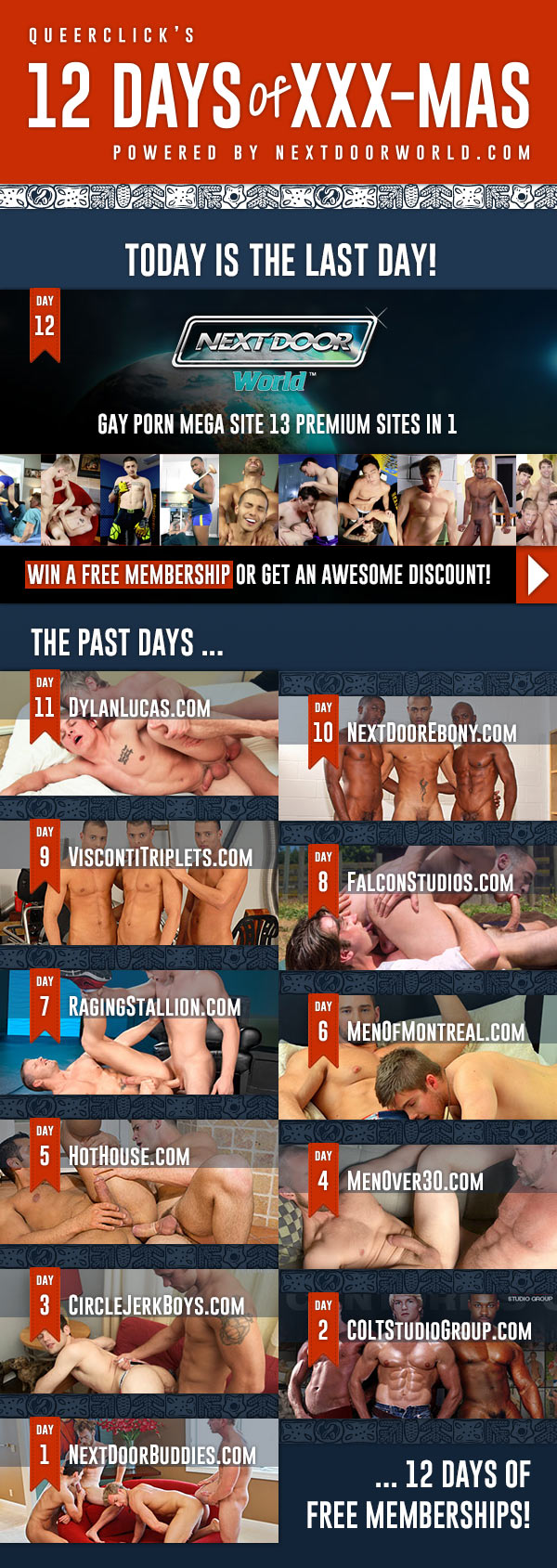 QueerClick's 12 Days Of XXX-Mas
