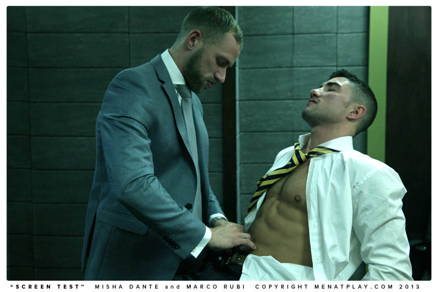 Men At Play: Screen Test - Marco Rubi and Misha Dante