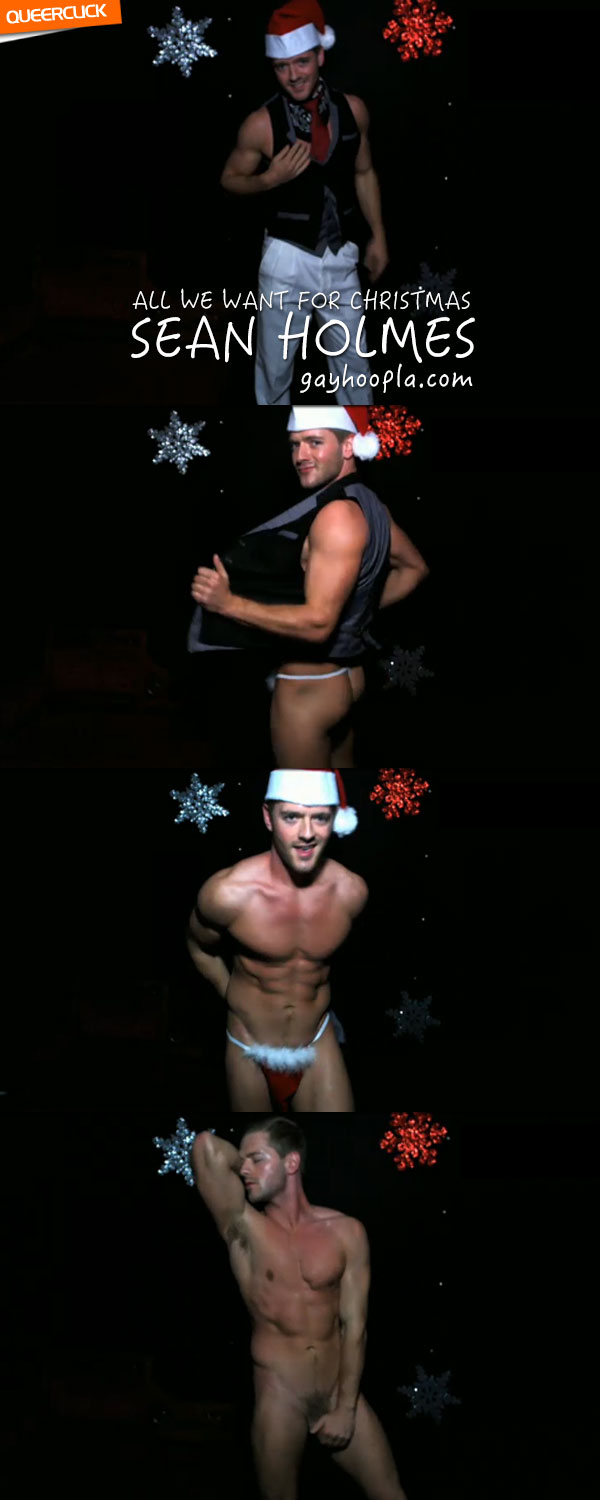 GayHoopla: All We Want For Christmas Is Sean Holmes