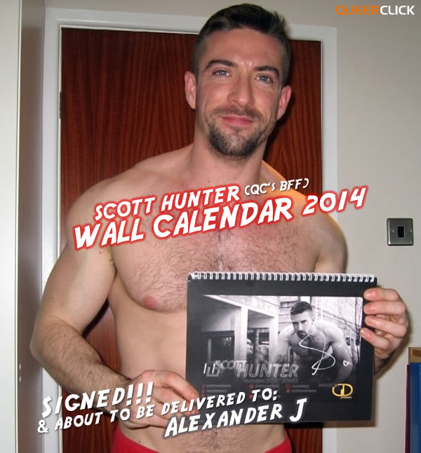 Autographed Scott Hunter Wall Calendar 2014 Ready To Be Mailed Out!