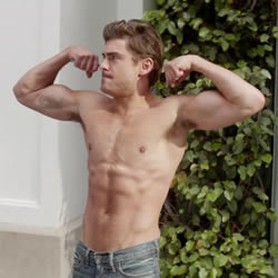 Porn Break: Zac Efron Flexes Shirtless in 'Neighbors' Trailer