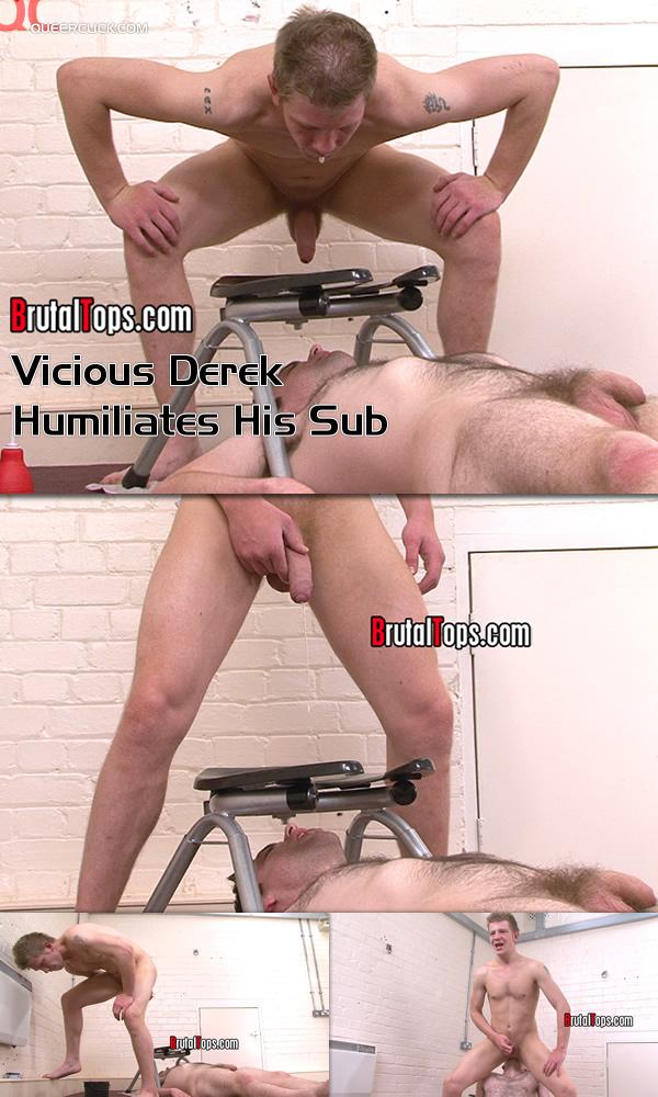 Vicious Derek Humiliates His Sub at Brutal Tops