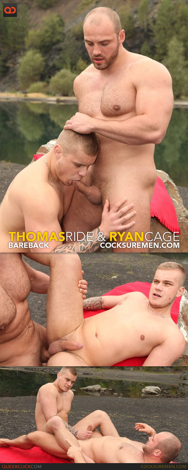 Cocksure Men: Thomas Ride Barebacks Ryan Cage