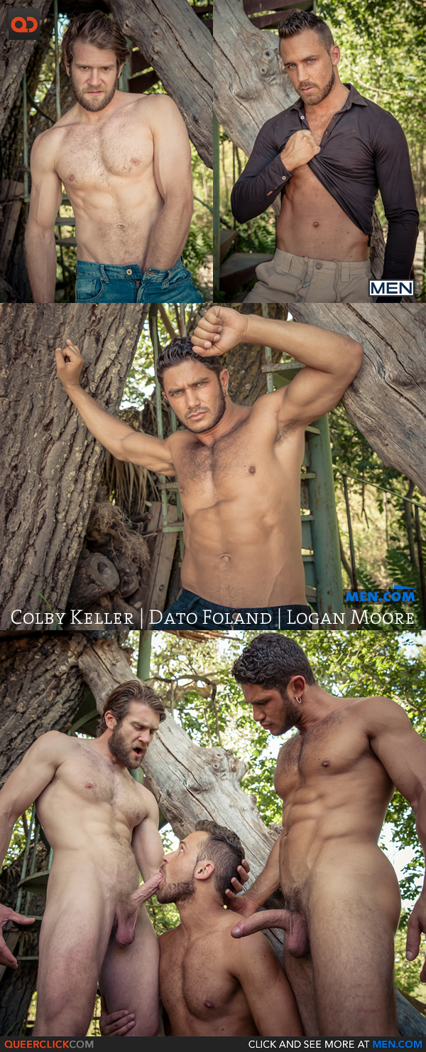 Men.com: 'Howl' Part 3 with Colby Keller, Dato Foland & Logan Moore