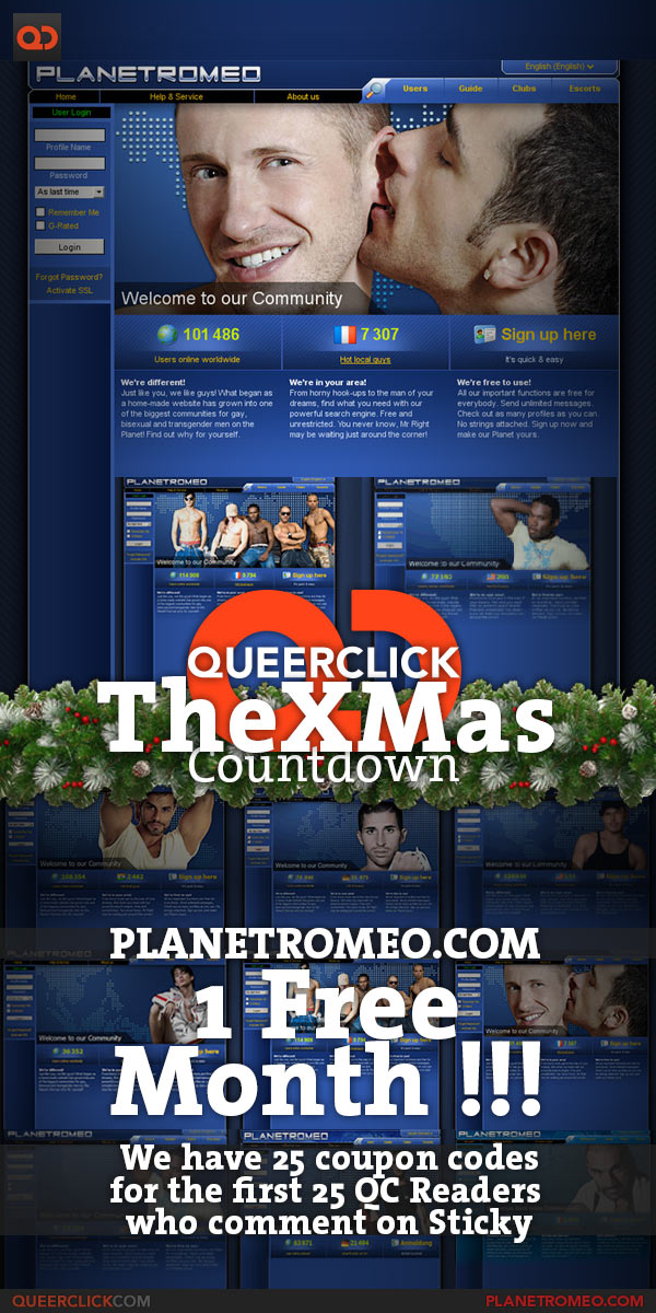 Queerclick's The XMas Countdown - Day 05: PlanetRomeo