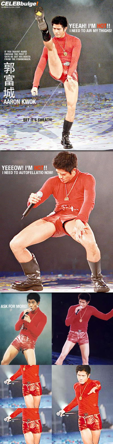 Aaron Kwok is red hot!
