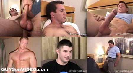 A myriad of guys jerking off on GUYSonVIDEO.com