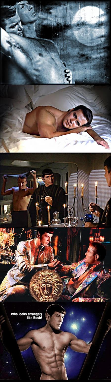 Homo Erotic Star Trek Fan Art. Here's today's very strange site.