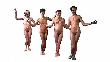 Naked French men behaving weirdly