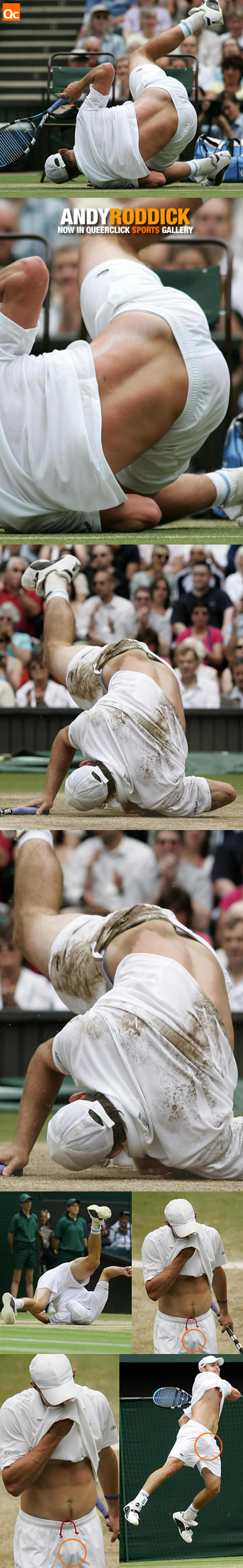 Andy Roddick pulls off some hot moves on the court!