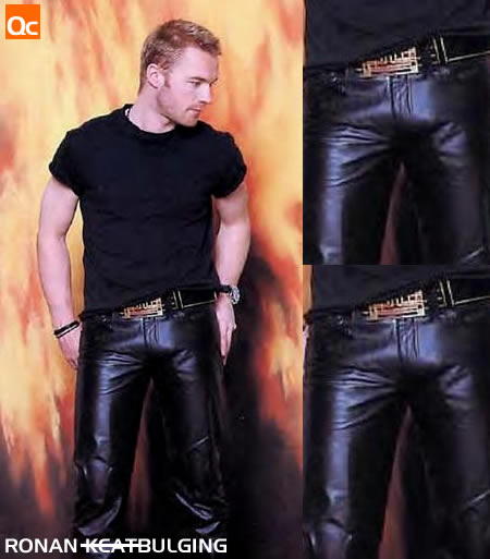 Ronan Keating's bulge in his tight pants