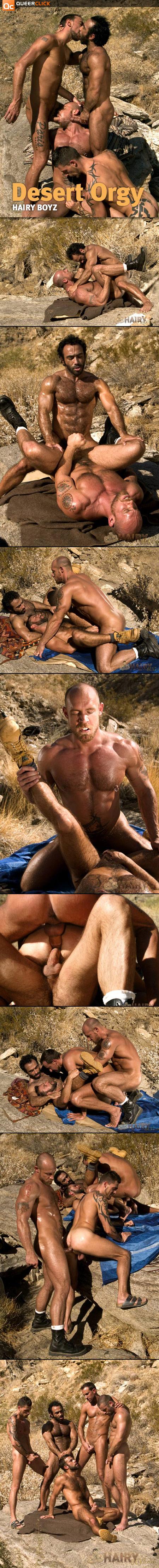 Orgía en el Desierto en HairyBoyz.com