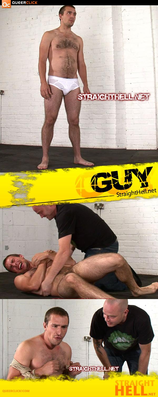 Naked Straight Man Groveling at StraightHell