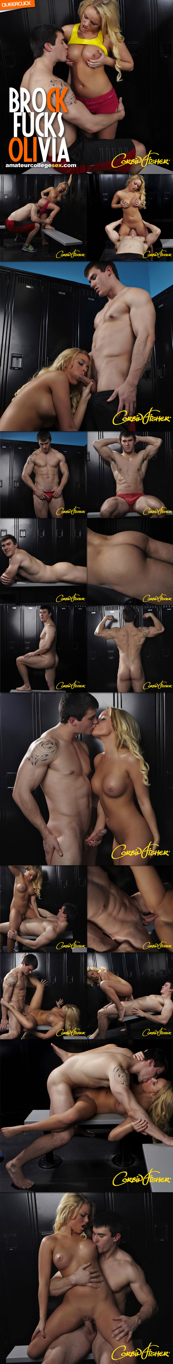 Amateur College Sex: Brock Fucks Olivia