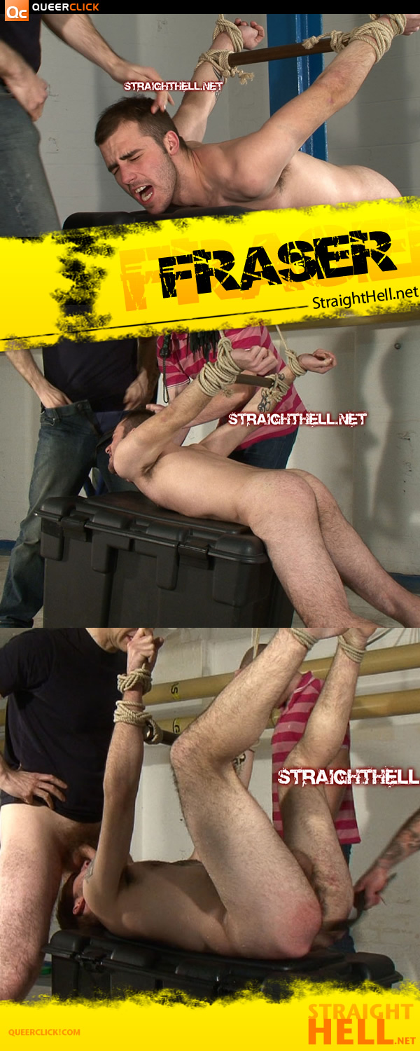 Hogtied Hetero Man at StraightHell on QCX