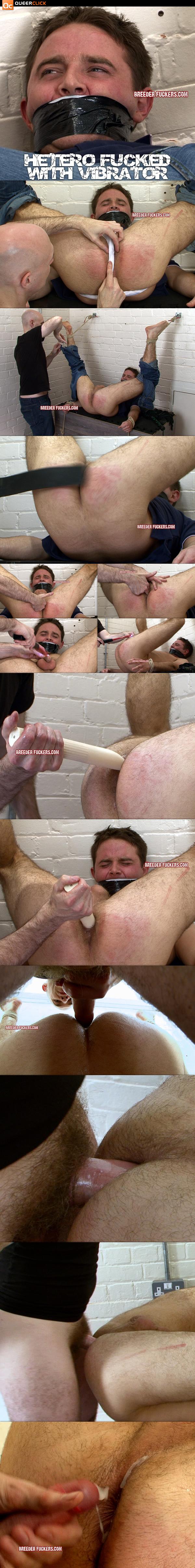 Hetero Fucked with Vibrator at BreederFuckers