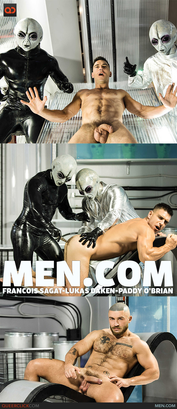 Men.com:  Francois Sagat, Lukas Daken and Paddy O'Brian