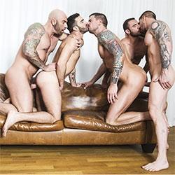 Lucas Entertainment: Rocco Steele's Breeding Party – Dolf Dietrich, Alejandro Alvarez, Drew Sebastian, Pedro Andreas