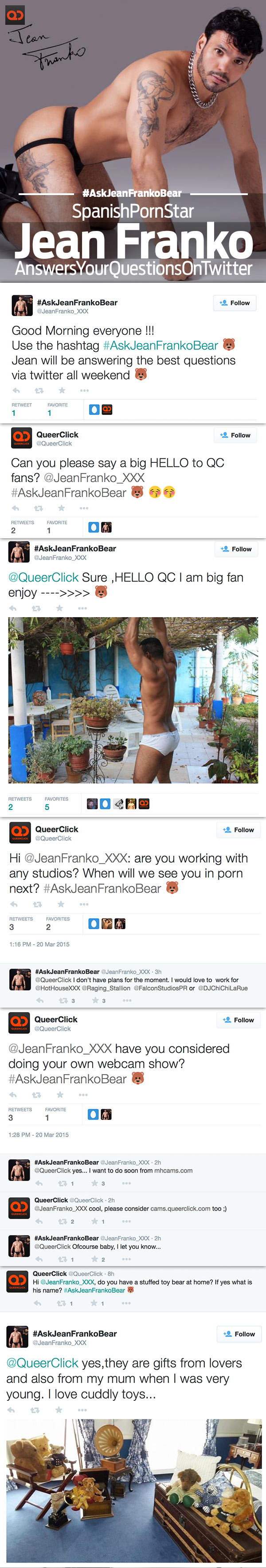 Spanish Porn Star Jean Franko Answers QC Readers Questions On Twitter - #AskJeanFrankoBear