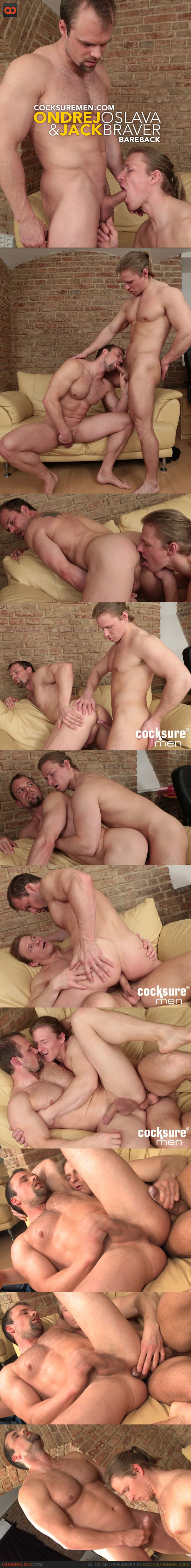 Cocksure Men: Ondrej Oslava Barebacks Jack Braver