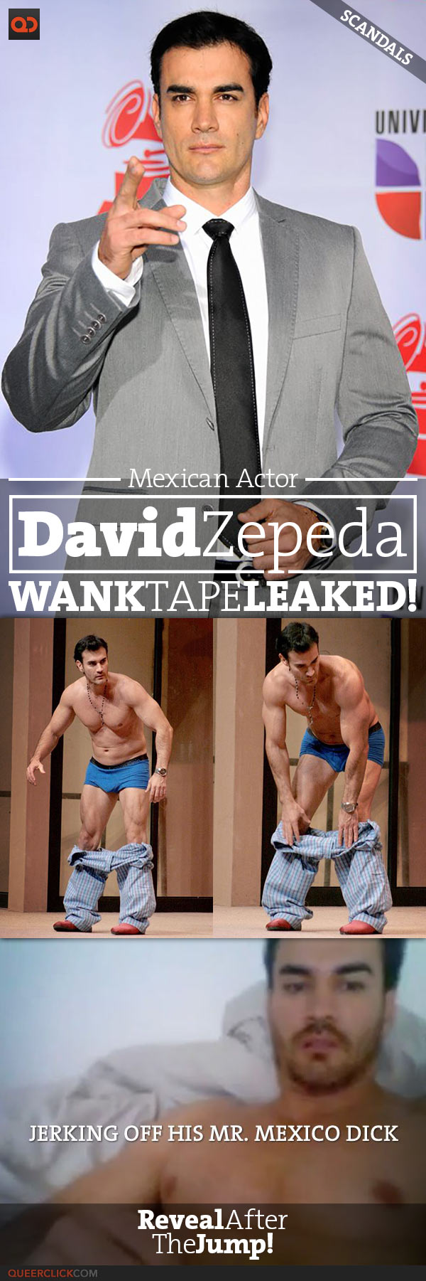 QC Scandals: David Zepeda, Mexican Actor, Exposed Photo And Wank Tape Leaked!