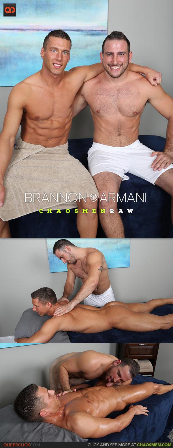 ChaosMen: Armani Fucks Brannon - Bareback