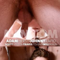 Men.com:  Adam Herst, Johnny Rapid, Scott Harbor, Travis Stevens and Will Braun