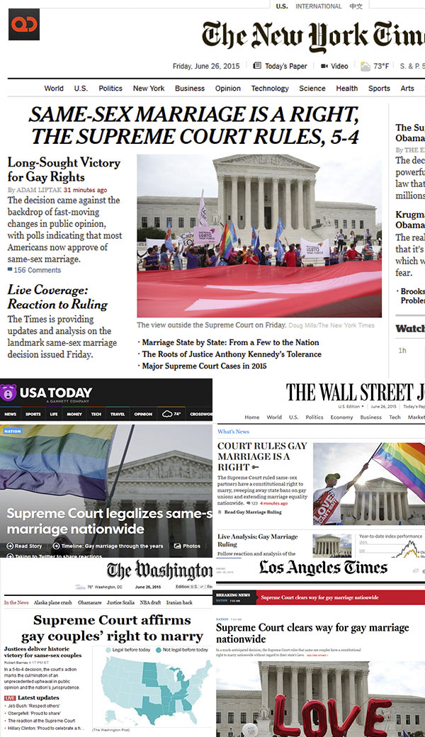 State ruling on same sex marriage