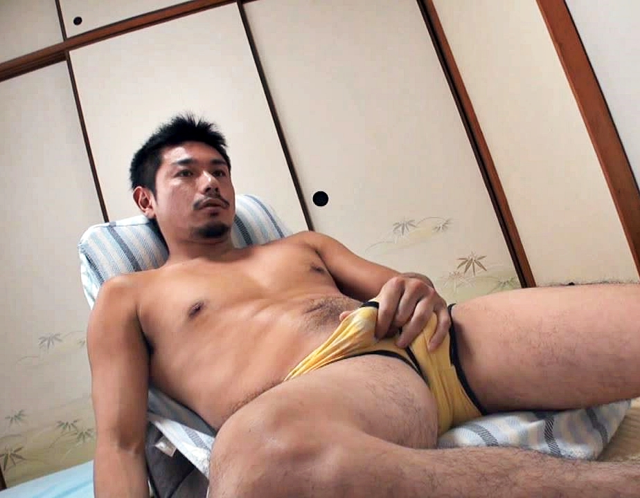 Asian man cumming